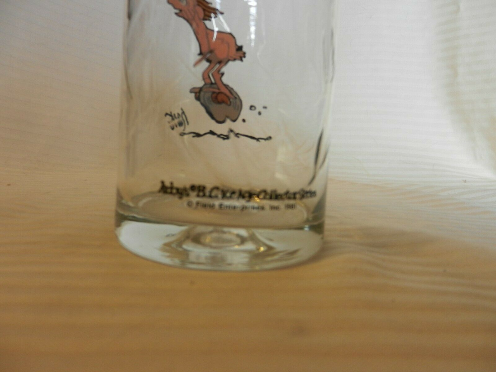Arby's B.C. Comics Ice Age Collectible Glass Thor! Johnny Hart 1981