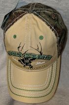 John Deere LP64489 Tan And Mossy Oak Camo Adjustable Baseball Cap image 6