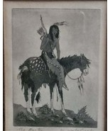 """Woody Crumbo original drawing Titled  """"The Hunter"""". signed by artist, N... - $85.00"""