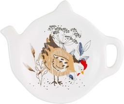WHITE BEIGE COUNTRY HENS DOLOMITE TEA BAG TIDY HOLDER KITCHENWARE TABLEWARE - $7.80