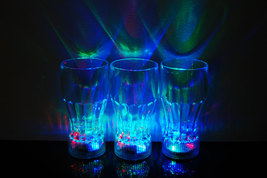 Set of 2 LED Light Up 12oz Cola Glasses - $9.95