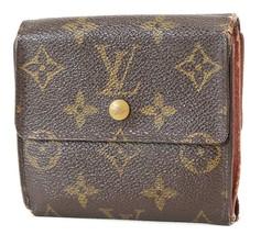 Auth LOUIS VUITTON Elise Double Snap Monogram Bifold Wallet Coin Purse #... - $85.50