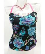 N Good Karma Black Paisley Tankini Top Swimwear Women's S - $19.79