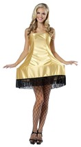 A Christmas Story Costume Leg Lamp Women Adult Gold Black Dress One Size... - $44.99