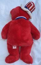 "SAM THE RED BEAR BEANIE BUDDY 2004 MWMT 14"" Patriotic Stars & Stripes Hat image 3"