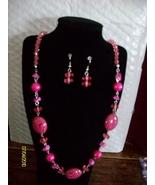 Zebra Shell Neclace Set   Pink  B-2 - $9.95