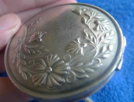 Vintage USSR Soviet Leningrad Compact Powder Box SilverPlated LENEMAL Le... - $69.00