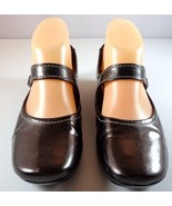 Softwalk Brown Metallic Leather Mary Janes Womens Size 7 M Shoes - $39.95
