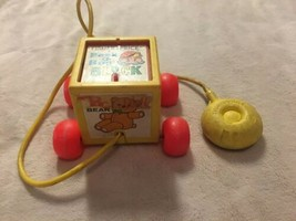 Vintage Fisher Price Peek A Boo Block Pull Toy - $6.65
