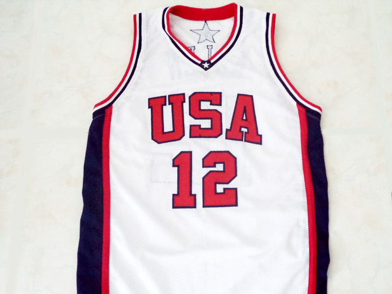 Ray Allen #12 Team USA Men Basketball Jersey White Any Size