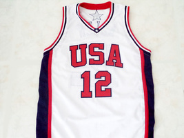Ray Allen #12 Team USA Men Basketball Jersey White Any Size image 1