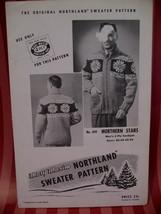 Vintage Northern Stars Sweater Knitting Pattern Mary Maxim - $9.99