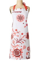 Anthropologie Moon Flowers Apron Pink Red Mom Wedding Hostess Holiday Gi... - £28.05 GBP