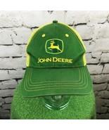 John Deere Mens O/S Hat Green Yellow Adjustable Meshback Trucker Style B... - $14.84