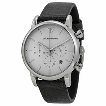 Emporio Armani AR1810 Black Leather Chronograph Mens Watch - £82.60 GBP
