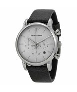 Emporio Armani AR1810 Black Leather Chronograph Mens Watch - €92,80 EUR