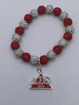 Delta Sigma Theta - Stretchy Bing Bracelet w/Charm - £14.34 GBP