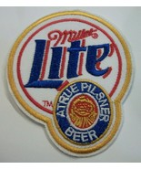 """Miller Lite Beer ~Bar~Brewiana~Embroidered Patch~3 1/8"""" x 2 5/8""""~Iron or... - $3.95"""