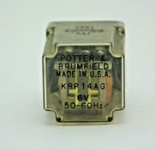 Potter & Brumfield KRP14AG 6V 50-60Hz Relay Used  - $9.85