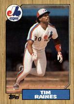 #30 Tim Raines 1987 Topps Baseball - $1.75