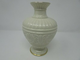 "LENOX ATHENA VASE  8"" IVORY COLOR GOLD RIMMED  WITH ORIGINAL STICKER - $24.70"