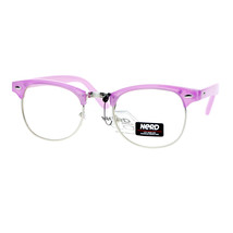 Pastel Color Clear Lens Glasses Designer Club Fashion Eyeglasses - $9.95