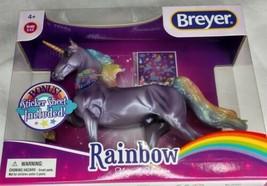 Breyer  RAINBOW  Magical Unicorn Classic #97267  Walmart American Saddle... - $47.99