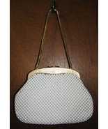 Whiting and Davis White Mesh Evening Bag Purse ... - $65.99