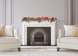CraftMore Poinsettia Pine Garland 6' image 5