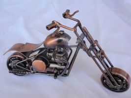 Decorative copper motorcycle  A  - $80.00