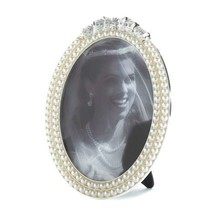 "Strands of Pearl Oval Photo Frame 5x7"" - $21.31"
