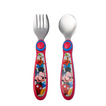2 Disney Easy to Hold Fork & Spoon Sets Toy Story & Mickey Mouse - $15.99