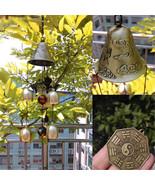 6 Bells Copper Clock Yard Garden Outdoor Living Amazing Wind Chimes - $17.32