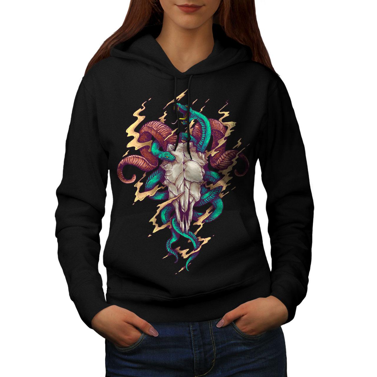 Satan Skull Punk Horror Sweatshirt Hoody  Women Hoodie - $21.99 - $22.99