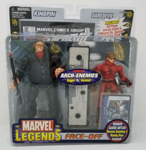 Marvel Legends Face-Off Arch-Enemies DAREDEVIL VS. KINGPIN Toy Biz NIB Comic