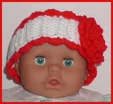Red White Toddler Girls Headband, Toddler Girl Ear Warmer Red White - $12.00