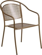 Round Back Patio Chair (Gold/Coral/Gray/Blue) - $69.98