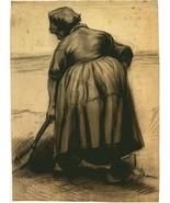 "VINCENT VAN GOGH ""DIGGING PEASANT WOMAN"" STEDELIJK MUSEUM ART PRINT NETH... - $70.11"