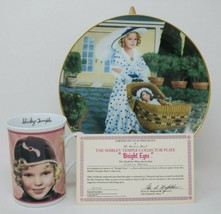 The Danbury Mint Shirley Temple Collector Plate & Mug Bright Eyes w/COA - $27.23