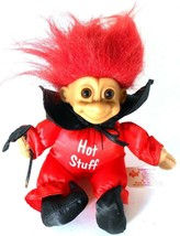 Russ Troll HOT STUFF Devil Red Suit with Cape & Pitchfork Soft Body Doll... - $15.83