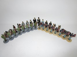 Vintage 90S Civil War Chess Set Union Confederate History Game No Board  - $37.40
