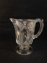 MCKee JUBILEE EAPG Clear Glass Creamer Footed ISIS NELLIE RADIANT DAISY ... - $16.95