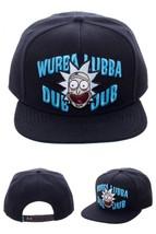 Wubba Lubba Dub Dub Black Snapback Cap 10-Inch Hat Acrylic Adjustable Fl... - $16.78