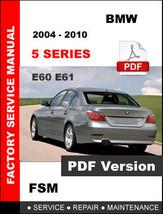 Bmw 5 Series 2004 2005 2006 2007 2008 2009 2010 E60 E61 Repair Factory Manual - $14.95
