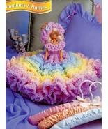 Rainbows & Ruffles Doll Dress fits Barbie NEW Crochet PATTERN Leaflet - $4.47