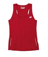 Cherry Red L N9138L New Balance Ladies Tempo Running Singlet Tank Gym - $8.18