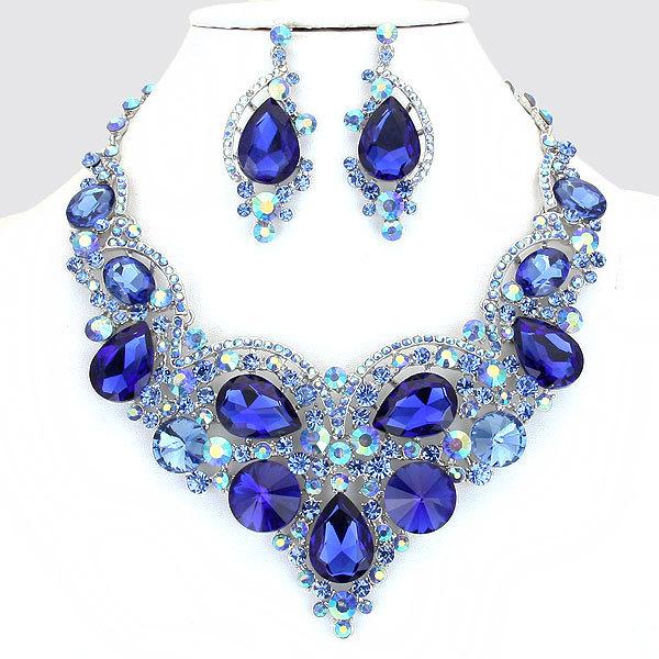 Necklace rhodium blue evn1972 r ry 18 3l 3l 212l 244208 2400 0.7