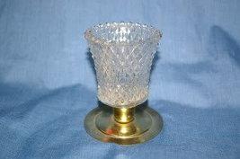 Home Interiors Clear Diamond Votive Cup Homco - $4.99