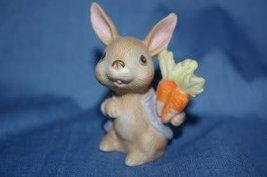 Homco Bunny wearing Jacket 1410 Rabbit Home Interiors - $2.99