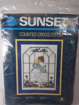 "My Mother Counted Cross Stitch Kit Sunset 2977 Vintage 1985  9"" x 12"" - $9.89"